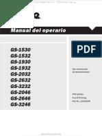 Manual Operacion Plataforma Elevadora Tijeras Gs1530 Gs3246 Genie Seguridad Controles Mantenimiento