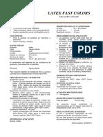 Especificacion Tecnica - Latex Fast Colors