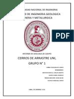 GEOLOGIA  DE CAMPO CERROS DE ARRASTRE UNI