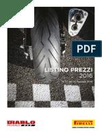 Listino Moto Pirellli 2016