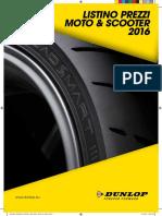 Listino Moto Dunlop 2016