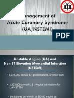 Management of ACS UA-NSTEMI DR.dr. Yudi Her - Workshop