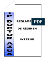 Reglamento Regimen Interno