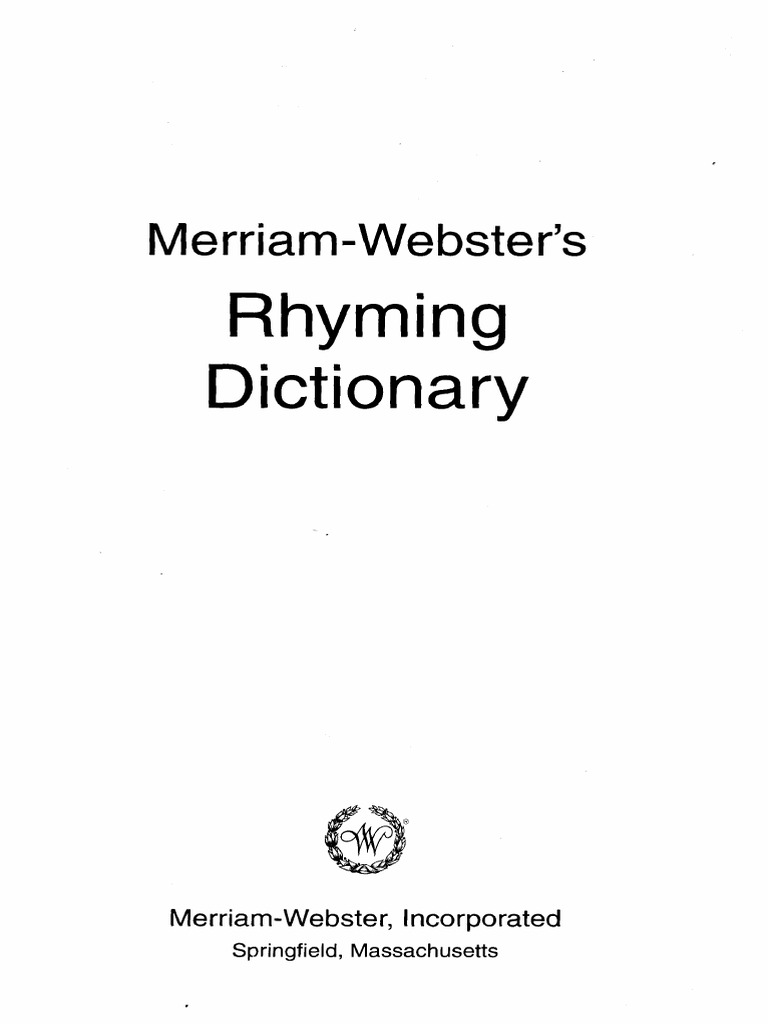the complete rhyming dictionary including the poet's craft book.pdf |  Linguistic Morphology | Linguistics