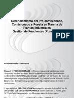 Punch List- Manejo