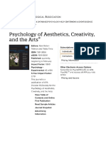 Psychology of Aesthetics, Creativity, And the Arts