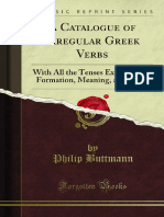 A Catalogue of Irregular Greek Verbs 1000689885