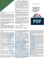 Tríptico Declaración Universal de Los Derechos Humanos