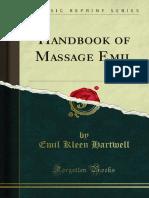 Handbook of Massage Emil 1000317905