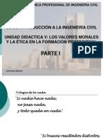 Unidad Didactica Parte 1 - Los Valores Morales y Eticos