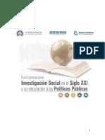 Relatoría - Foro Internacional de Investigación Social en el Siglo XXI