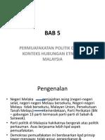 Bab 5 Permuafakatan Politik Dalam Konteks Hubungan Etnik Di Malaysia