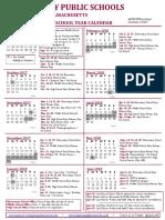 Quincy School Year Calendar 2017-18
