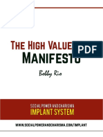 The High Value Man Manifiesto