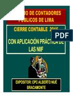 Cierre Contable 2016 Peru