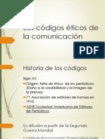 Los Códigos Éticos de La Comunicación