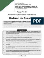 Prof. EBT.2013.Cad Questões PA-31