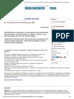 Rendimiento Cognitivo y Percepción de Problemas de Memoria en Pacientes Con Dolor Crónico_ Con Fibromialgia Versus Sin Fibromialgia