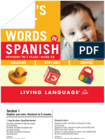 Babys First Words Spanish