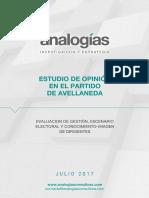 Informe ANALOGÍAS Avellaneda Julio 2017