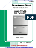 KitchenAid (not Fisher Paykel-built) 2008 Drawer Dishwasher Service Manual 4317427