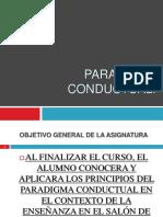 Introducción PARADIGMA CONDUCTUAL.