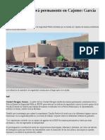 08/07/17 Policía Estatal Será Permanente en Cajeme