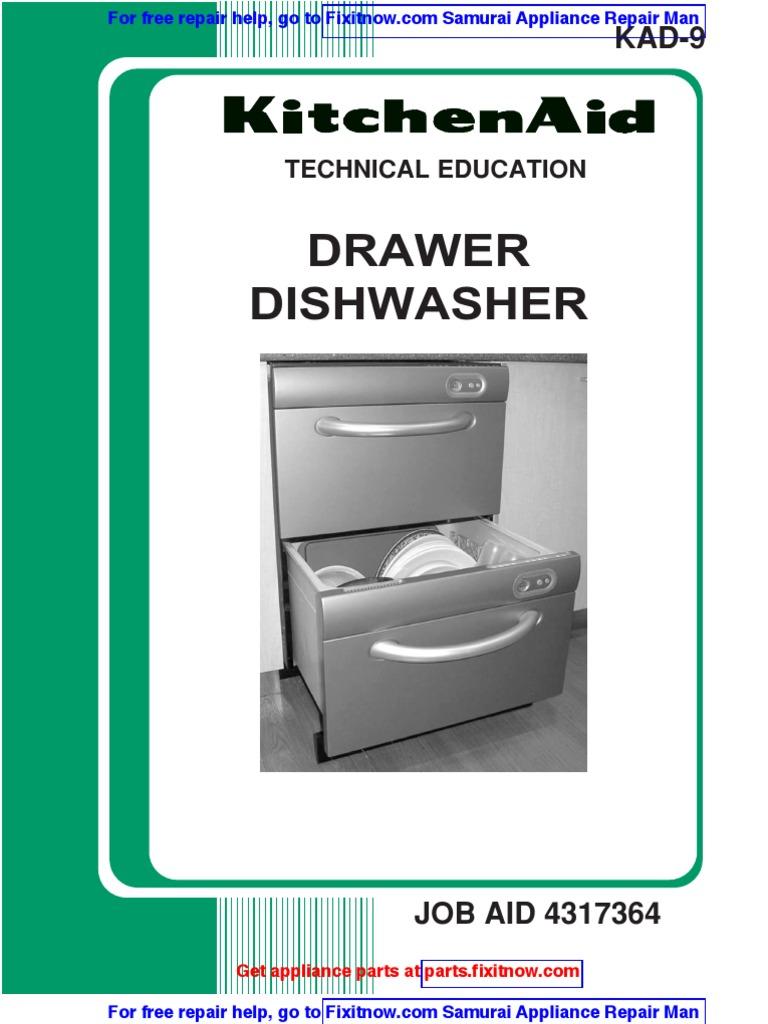 KitchenAid Fisher Paykel Dish Drawer Job Aid | Dishwasher | Ac Power Plugs  And Sockets