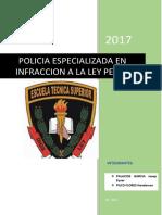 Policia Especializada en infracción a la ley penal