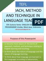 Approach Method Technique in Language Te