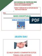 ESTUDIO Y ANÁLISIS DE LA COYUNTURA DE POLÍTICAS PÚBLICAS