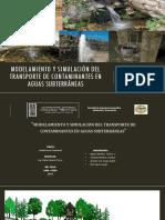 Ppt-modelamiento Del Transporte de Contaminantes en Aguas Subterraneas