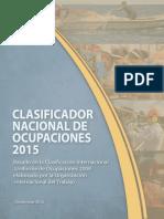 Clasificador Nacional de Ocupaciones 2015 INEI