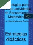 ESTRATEGIAS PARA TRABAJAR MATEMÁTICAS