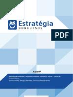 Adm. Financeira e Orçamentária Aula 07 (Classificações Despesas Públicas)