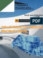 Linea de Productos y Servicios - Clientes BOMBA MARS
