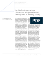 Facilitating Conversations That Matter Using Coordinated Management of Meaning Theory