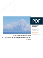 Non-Performing Loans - Southern Europe's Next Tipping Point, July 2017