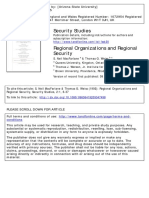 McFARLANE - Regional Organizations and Regional Security
