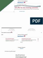 Bank of America Checking 100 Bonus Online Only