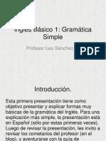 Inglés Básico 1 Gramática Simple