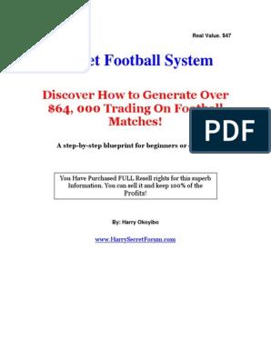 Football betting secrets pdf to word rdr2 bet on charkes