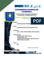 Constitución de Una Sociedad Civil-cortez & Asociados Sociedad Civil de r.l.