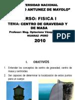 CENTRO DE GRAVEDAD Y DE MAS OPTA 2010-II.pptx