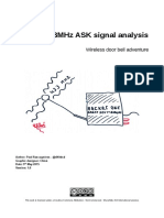 433MHz ASK Sginal Analysis-Wireless Door Bell Adventure-1.0