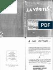 La Verité - 556 - Avril 1972