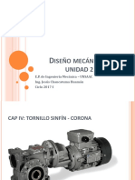 Diseño de transmisión tornillo sinfin - corona