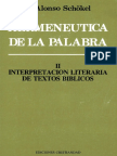 ALONSO SCHOKEL, L. - Hermeneutica de La Palabra II - Cristiandad 1987.pdf