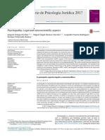 PSYCHOPATHY LEGAL and Neurocientific Aspects 2017