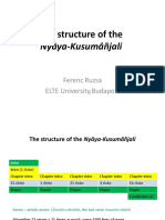 The Structure of the Nyāya-Kusumâñjali - Ferenc Ruzsa